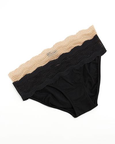 Dolce Low-Rise Bikini Briefs, Blush
