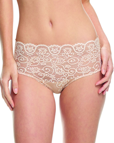 Commando Double Take Tulip Lace Bikini Briefs