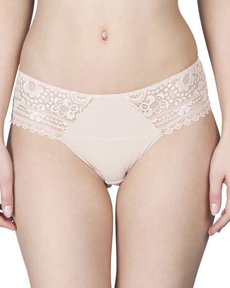 Hanae Lace-Trim Bikini Briefs