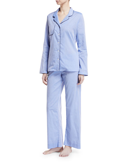Derek Rose Amalfi Piped Pajama Set