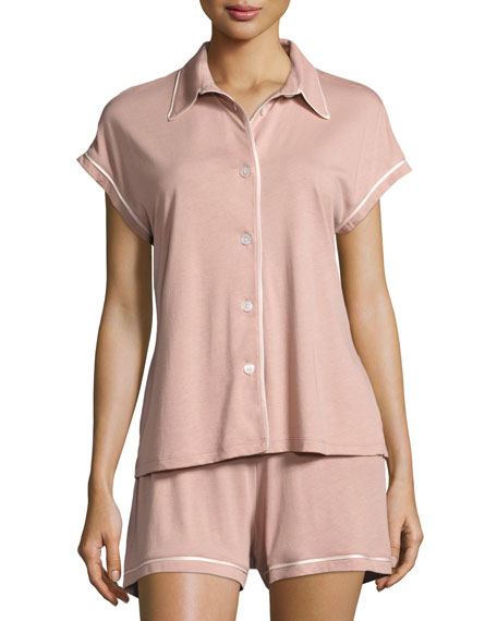 Cosabella Bella Cap-Sleeve Shorty Pajama Set