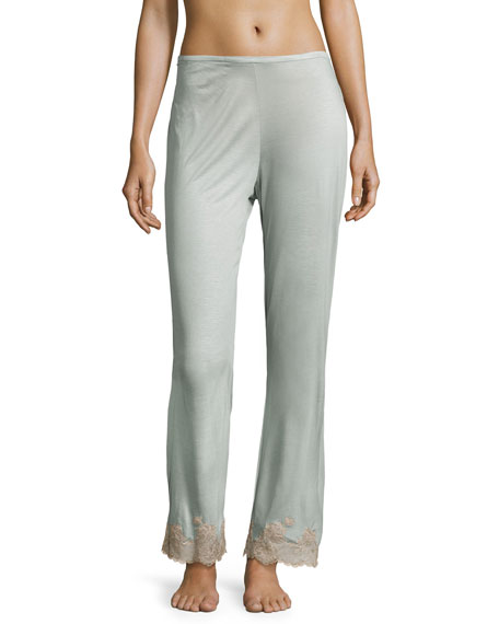 Charlize Lace-Cuff Lounge Pants