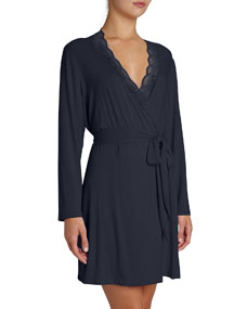 Georgina Lace Trim Robe by Eberjey