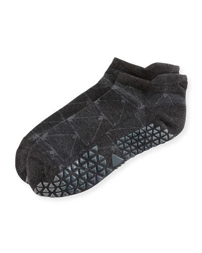 Broken Arrow Grip Savvy Coal Athletic Socks, Gray Pattern