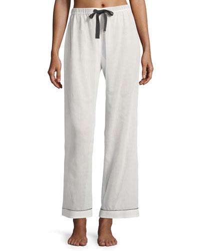 Chantal Contrast-Trim Pajama Pants