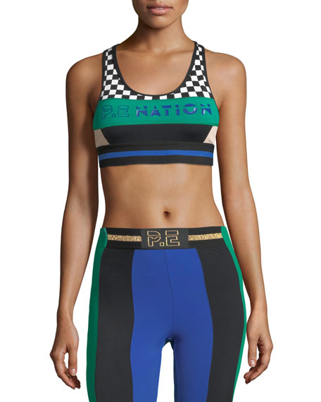 Ball Rolling High-Intensity Crop Sports Bra