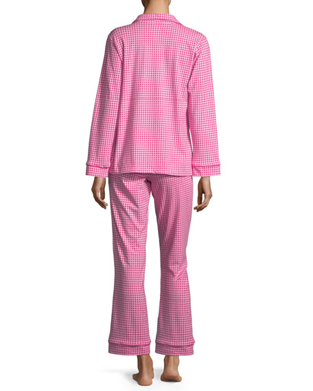 Pearls Long-Sleeve Classic Pajama Set, Plus Size