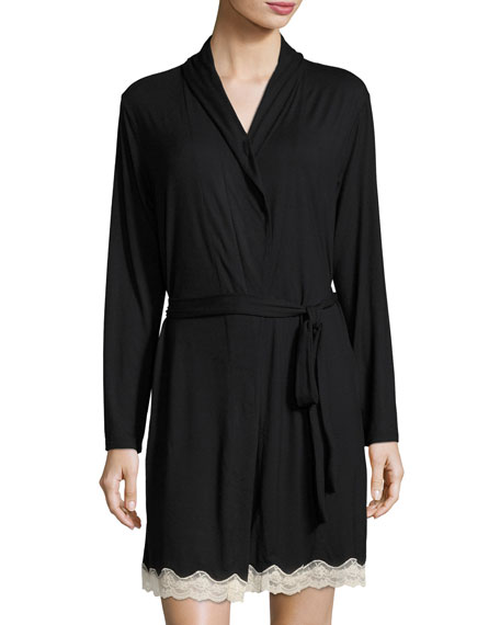 Lady Godiva Lace-Trimmed Robe