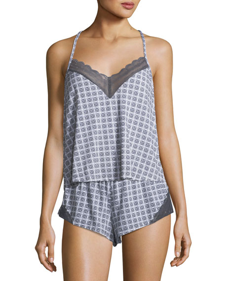 SWEET DREAMS GEOMETRIC-PRINT CAMISOLE