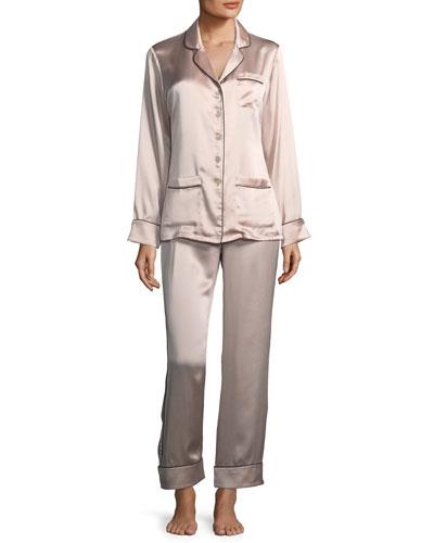 Coco Oyster Long Pajama Set