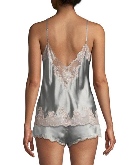 Lolita Lace-Trim Silk Camisole