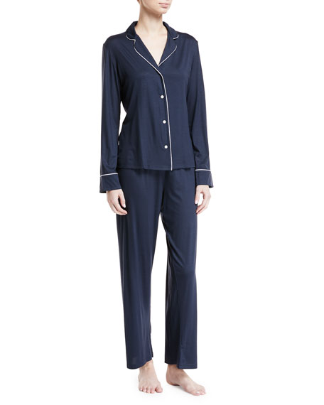 Carla Classic Piped Knit Pajama Set