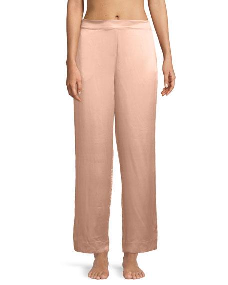 Bold-Striped Silk Pajama Pants