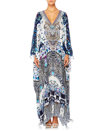 The Long Way Home Printed Coverup Kaftan