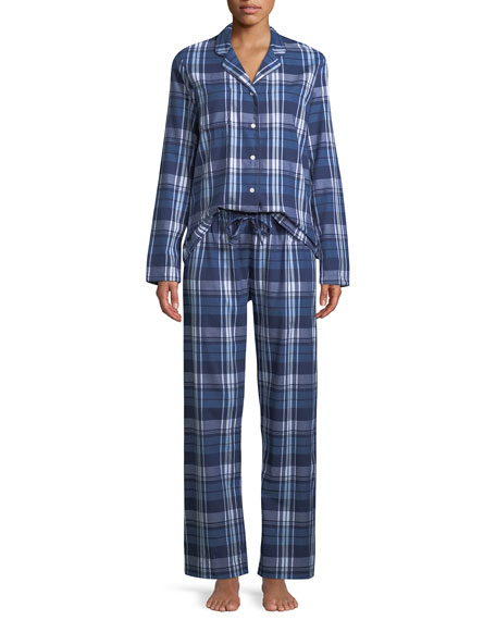 Image 1 of 1: Ranga Plaid Classic Pajama Set