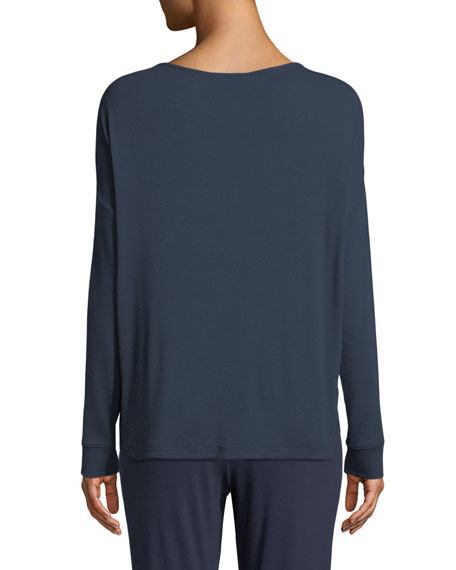 Nadya Long-Sleeve Lounge Top