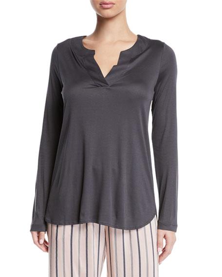 HANRO Womens Malie Knit Long Sleeve Shirt