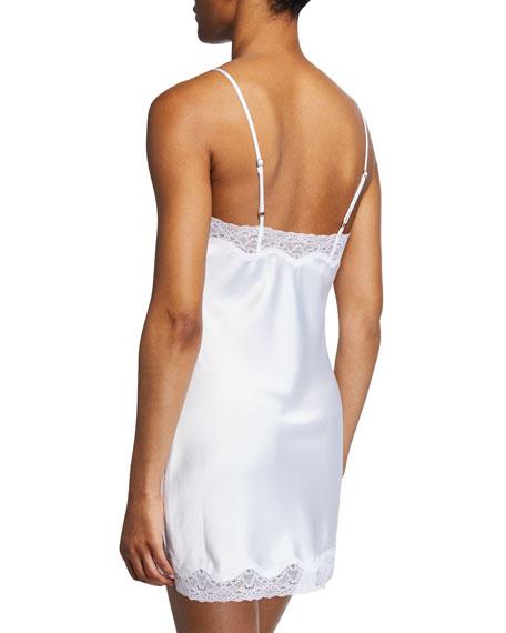 Lace-Trim Satin Bridal Babydoll