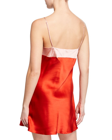 Wide Band Silk Chemise