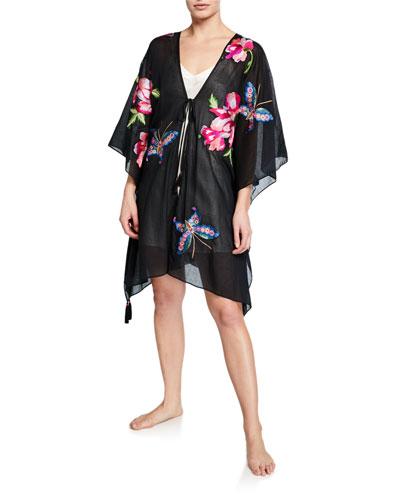 Paradise Embroidered Lounge Kimono