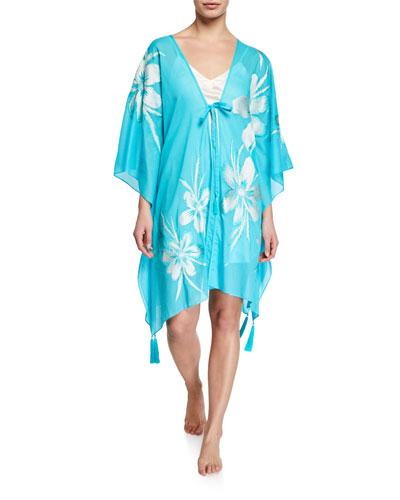 Paradise Embroidered Kimono Topper