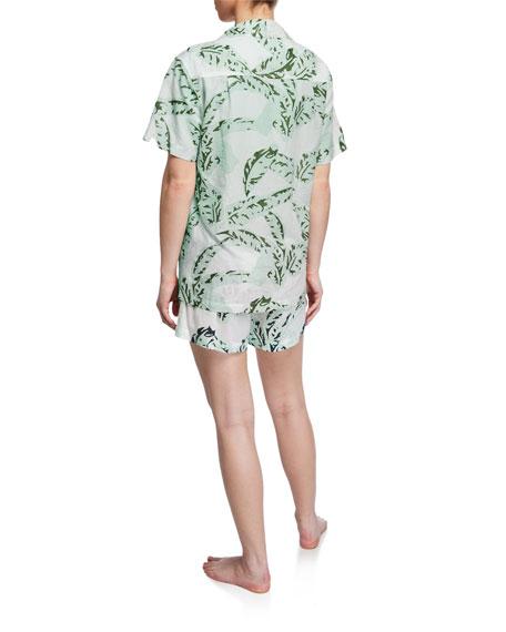 Banana Leaves Shorty Two-Piece Pajama Set