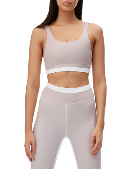 All Fenix Aria Stripe Scoop-Neck Sports Bra