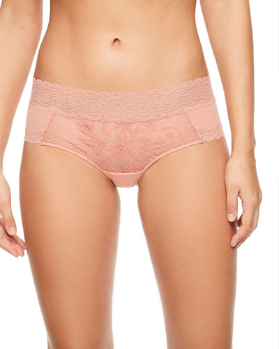Blanche Lace-Front Hipster Briefs
