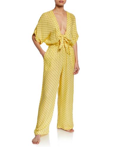 Donna Polka-Dot Lounge Jumpsuit