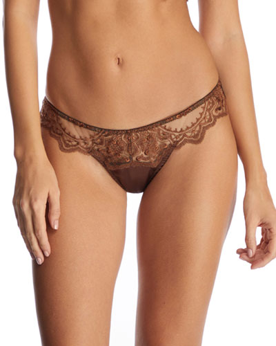 Le Desir Embroidered Thong