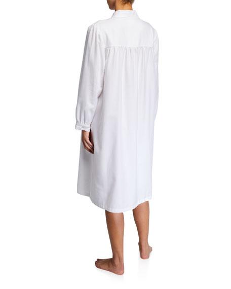 Sara Long-Sleeve Collared Nightgown