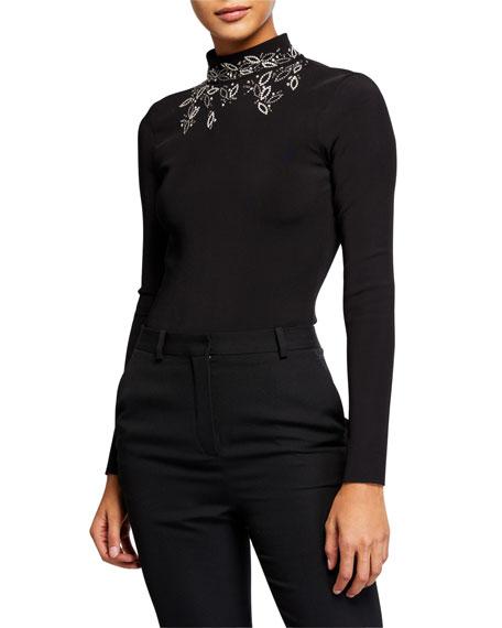 Embellished Turtleneck Bodysuit