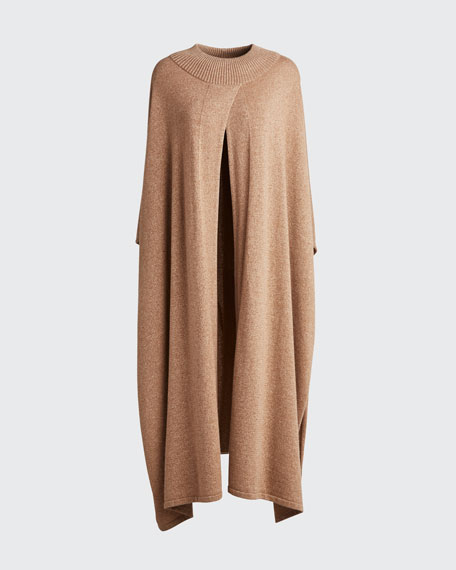Knit Cape with Lurex