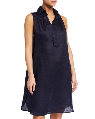 Crown Linen Shift Dress