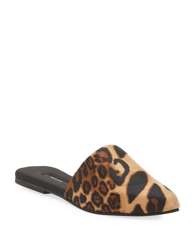 Natori Mules Luxe Leopard-Printed Mule Slippers