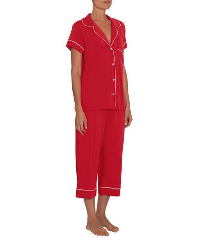 Gisele Short-Sleeve Crop Pajama Set