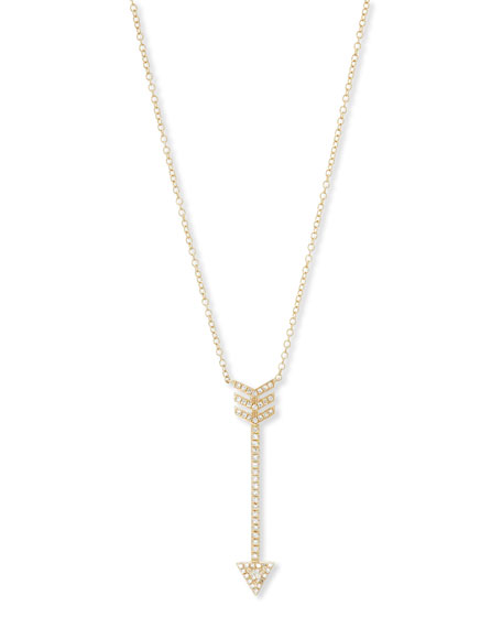 Core White Topaz Arrow Necklace