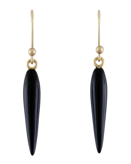 Ted Muehling Small Black Onyx Rice Earrings
