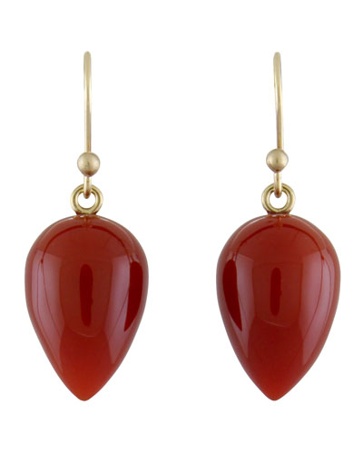 Carnelian Acorn Earrings