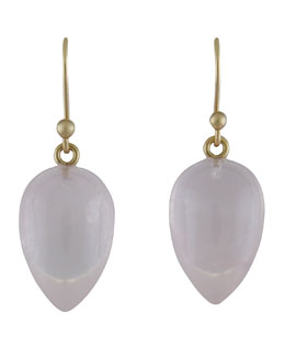 Ted Muehling Rose Quartz Acorn Earrings