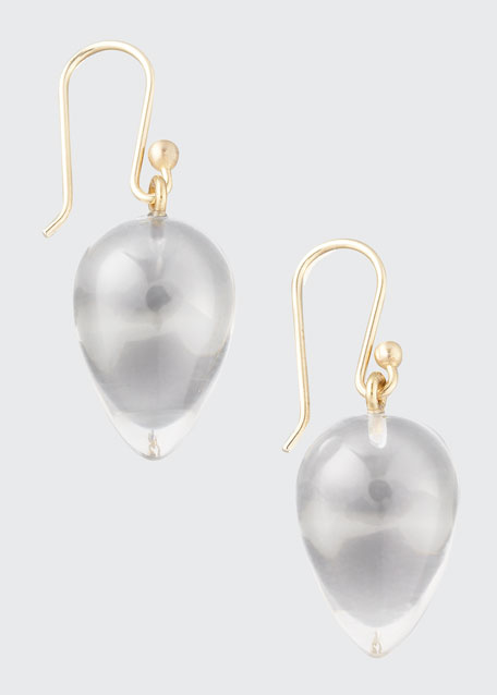 Rock Crystal Acorn Earrings