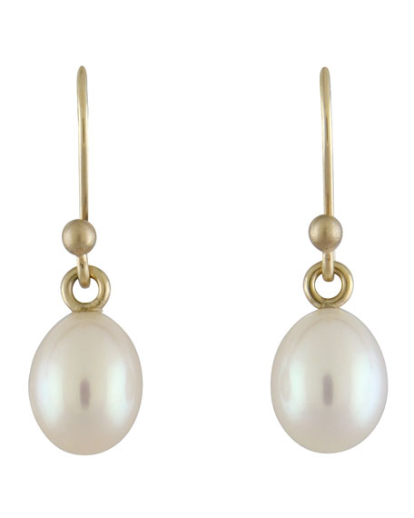 Small White Pearl Earrings