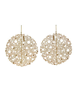 Ted Muehling Yellow Gold Queen Anne's Lace Earrings