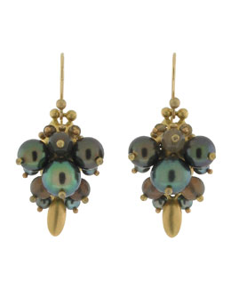 Ted Muehling Black Pearl Bug Earrings
