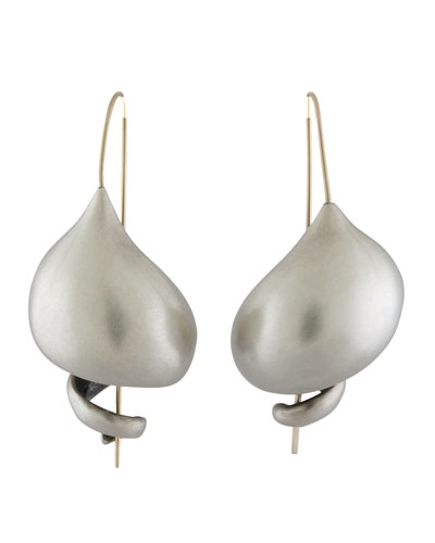 Sterling Silver Snail Earrings