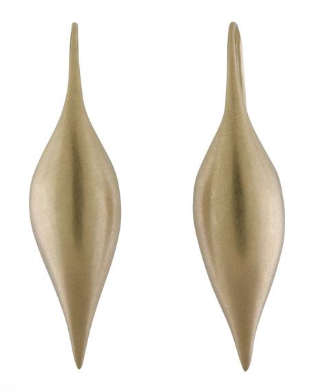 Yellow Gold Pod Earrings