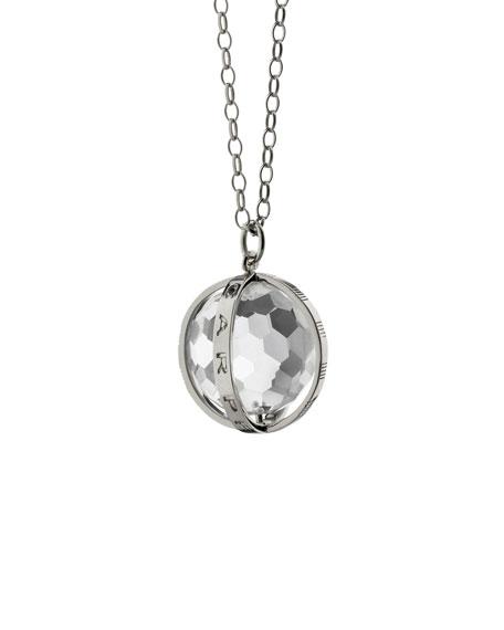 Monica Rich Kosann Extra Large Silver Carpe Diem Pendant Necklace, 30L