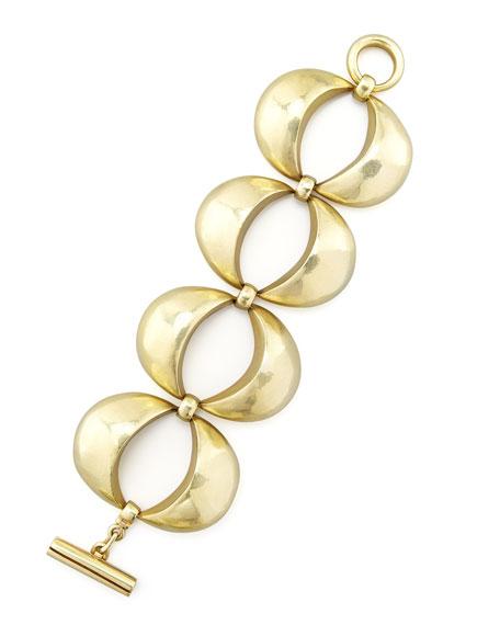 Green Gold Four-Eye-Link Bracelet