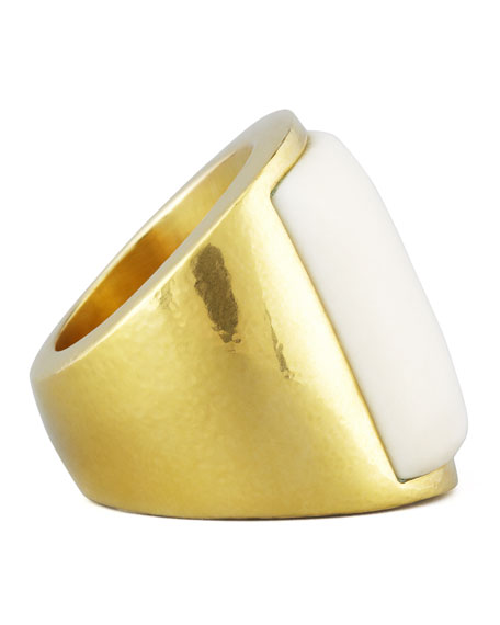 Large Square Bone Ring
