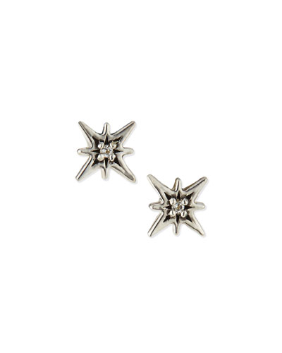Stardust White Topaz Stud Earrings